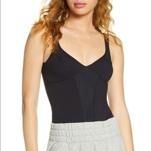 Free People Movement Heart of Gold Leotard black